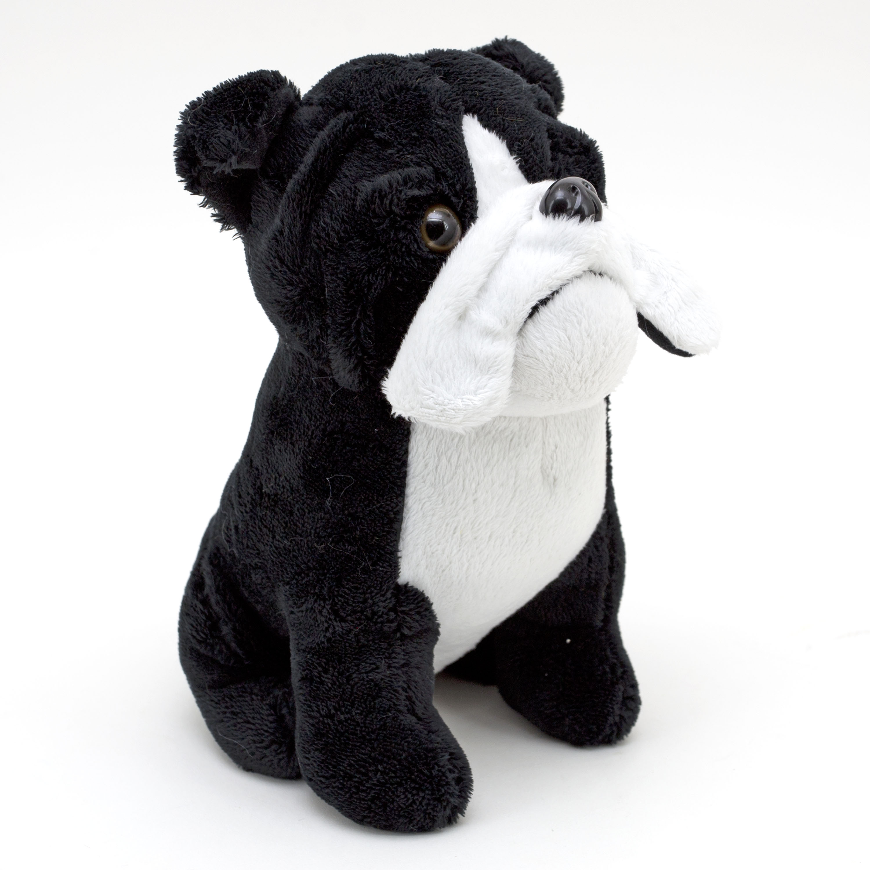 10 Inch Puppy Plush Stuffed Toy Black Bulldog Walmart Com