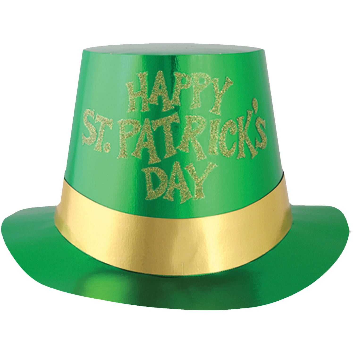 5-Pack Glittered St. Patrick's Day Hats Adult Halloween Accessory