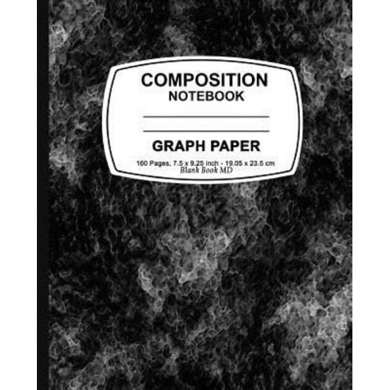graph paper notebook black marble graph paper notebook 7 5 x 9 25