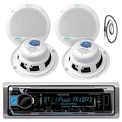 new kenwood marine boat atv car in dash bluetooth cd mp3 ...
