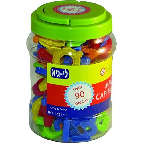 megcos Magnetic Capital Letters in a Jar, 90-Piece