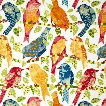 Garden Quilting Fabric - Richloom Ash Hill Garden Patchwork Birds Solarium