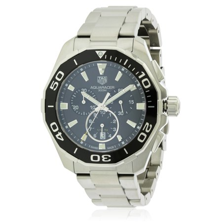 d1c1073750a TAG Heuer - Tag Heuer Aquaracer Chronograph Stainless Steel Mens Watch  CAY111A.BA0927 - Walmart.com