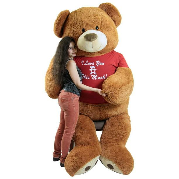 Baby Net For Stuffed Animals, Giant 8 Foot Valentines Day Teddy Bear 96 Inch Soft Big Plush Brown Oversized Teddybear Wears Tshirt I Love You This Much Walmart Com Walmart Com