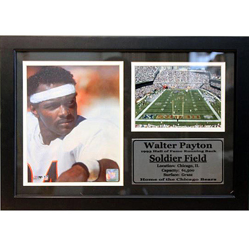 NFL Walter Payton Photo Stat Frame, 12x18