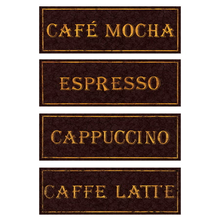 Vintage Paris Cafe Signs Cappucino Espresso Caffe Latte Caffee