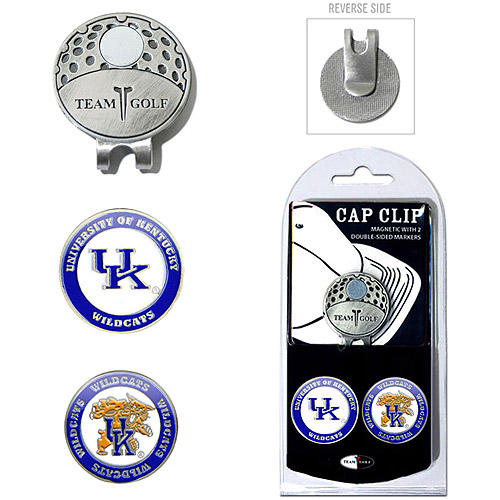 Team Golf NCAA Kentucky Cap Clip With 2 Golf Ball Markers