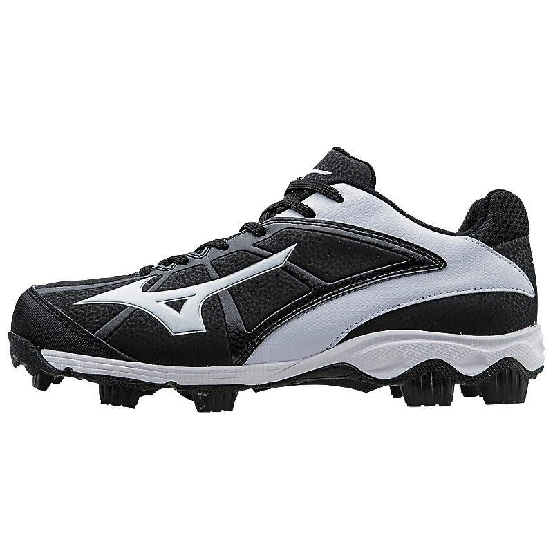 Mizuno 9-Spike Advanced Finch Franchise 6 Molded Fastpitch Softball Cleat Black White 11 by Mizuno