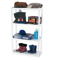 "Plano Molding 4 Shelf Shelving Unit  34.25""x 14.5"" - White"