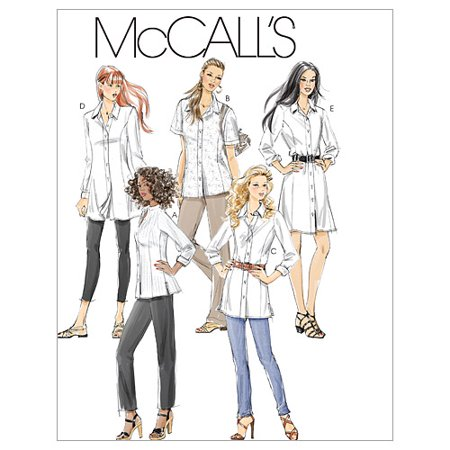 Petite Length - McCall's Pattern Misses', Miss Petite, Women's and Women's Petite Shirts in 3 Lengths, RR (18W, 20W, 22W, 24W)