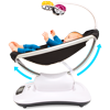 4moms mamaRoo 4 Baby Swing | Bluetooth Baby Rocker with 5 Unique Motions | Smooth, Nylon Fabric | Classic Black