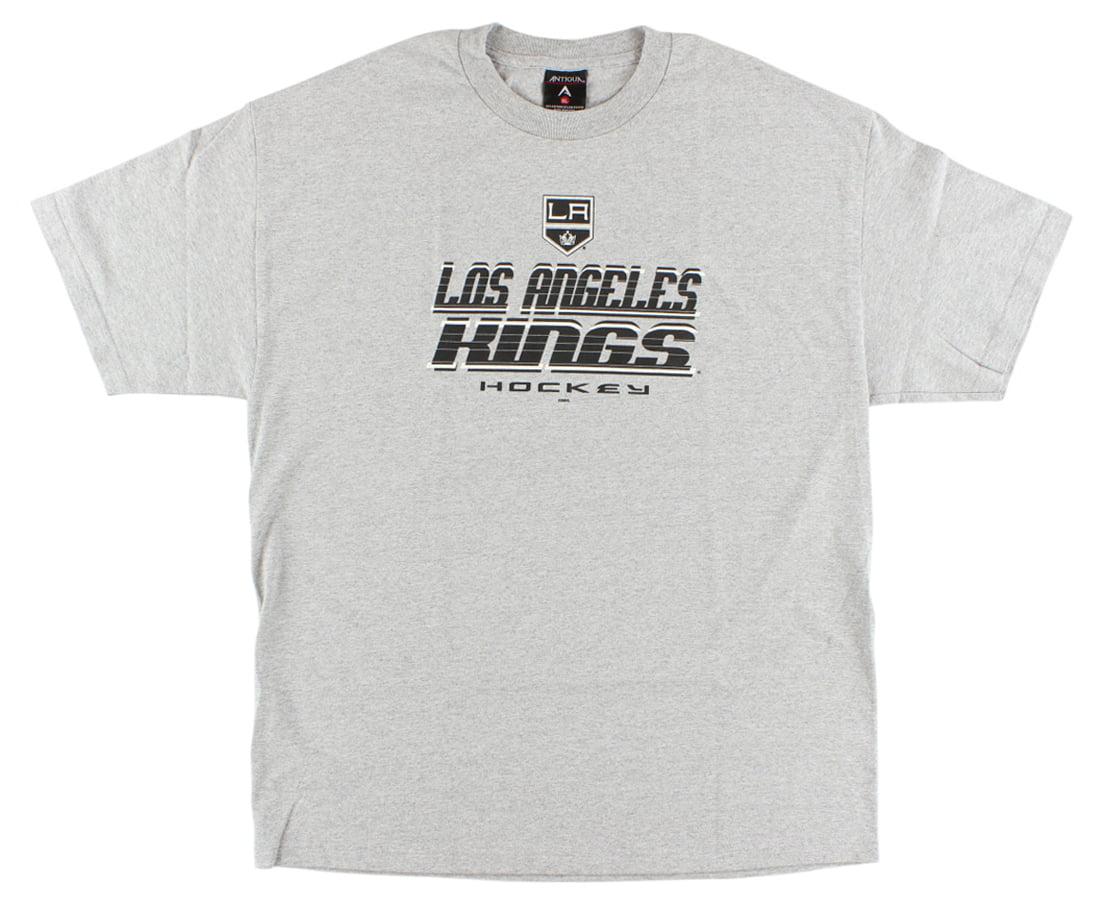 Antigua Mens Los Angeles Kings NHL Skate T Shirt Grey by