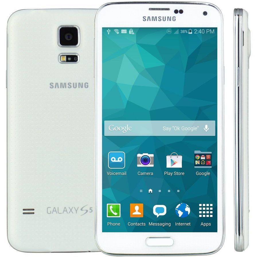 FreedomPop Galaxy S5 Smartphone - 16 GB Built-in Memory - Wireless LAN - 4G - Bar - White - SIM-free - Email, SMS (Short Message Service), MMS (Multi-media Messaging Service), Instant Messaging - Acce