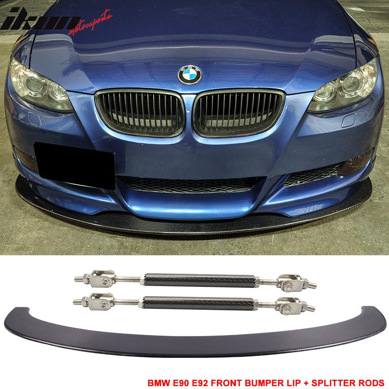 06-13 BMW E90 E92 M3 Carbon Fiber Front Splitter Lip Diff...