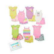Garanimals Baby Girl Summer Time Essentials Kid-Pack Gift Box, 14-Piece