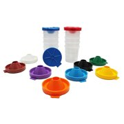 Pacon No-Spill Paint Cup Set, Round, 2 Packs of 10