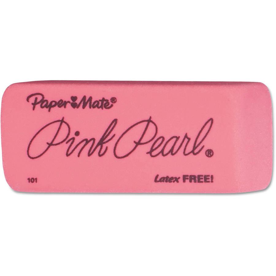 Paper Mate Pink Pearl Large Eraser, Box of 12