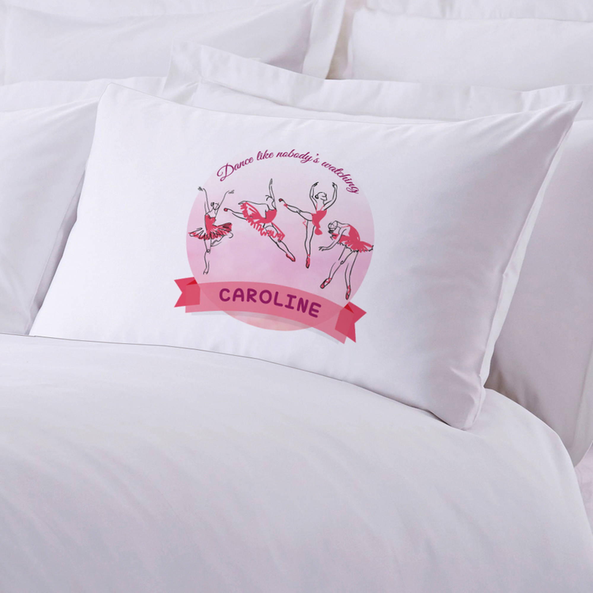 "Personalized Ballerina Pillowcase, 20"" x 30"""