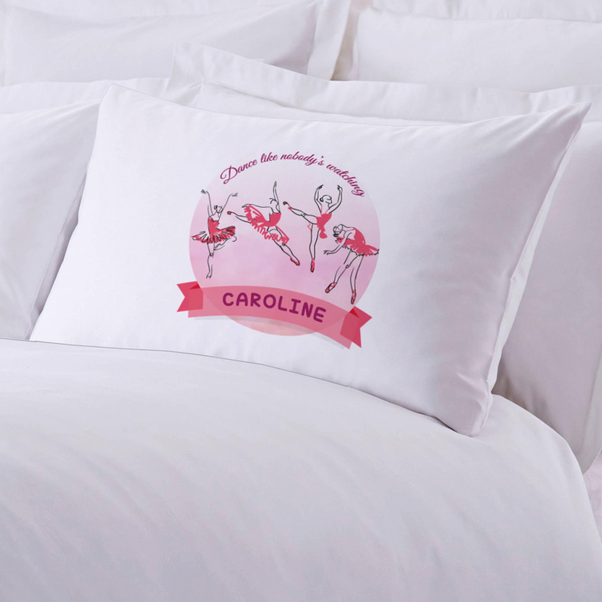 "Personalized Ballerina Pillowcase, 20"" x 30"""