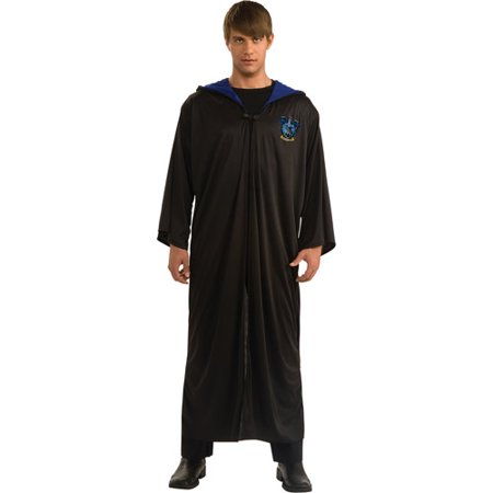 Harry Potter Ravenclaw Robe Adult Halloween Costume, Size: Men's - One Size (Plus Size Mens Halloween Costume Ideas)