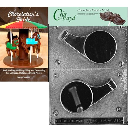 Cybrtrayd Large Whistle Chocolate Candy Mold with Our Chocolatier's Guide Instructions Manual