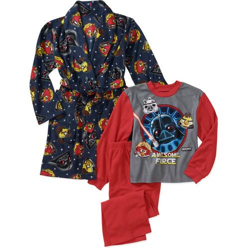 Star Wars Angry Birds Boys' 3 Piece Robe Set