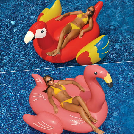 Swimline Giant Parrot and Flamingo Floats for Swimming Pools