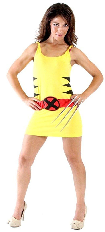 sc 1 st  Walmart & X-Men Wolverine Juniors Costume Tunic Tank Dress - Walmart.com