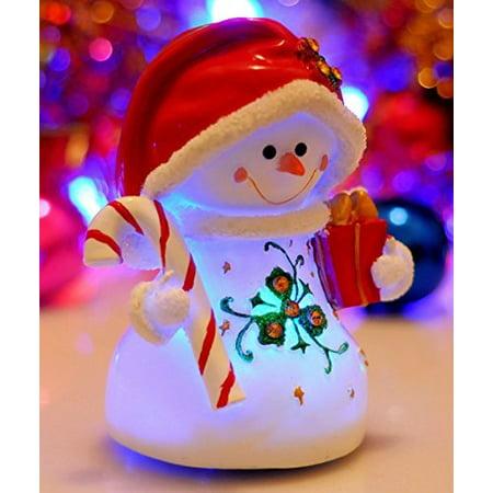 Honeygifts Luminous Rotary Music Box Xmas Presents Christmas Snowman Design