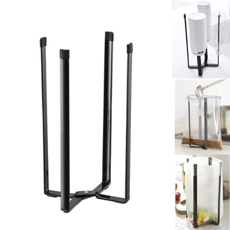 Tuscom Home Tower Kitchen Multifunction Stand Plastic Bag Holder Cup Bottle Drain Rack ()