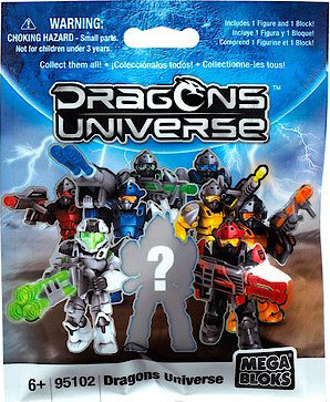 Mega Bloks Mega Bloks Dragons Universe Series 1 Minifigure Mystery Pack by