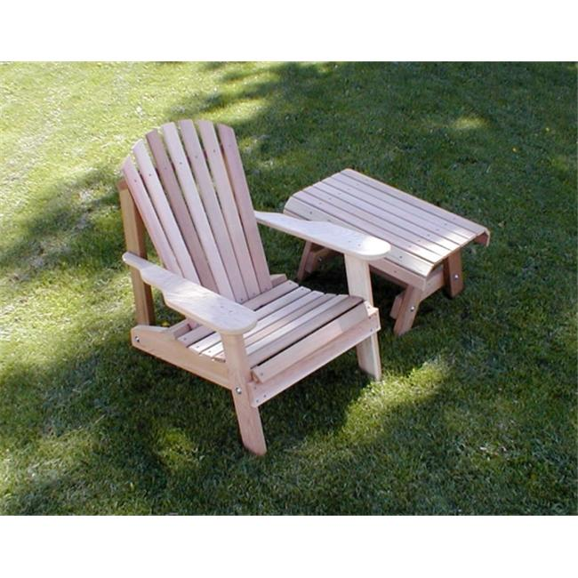 Creek Vine Designs WRF5200SETCVD Cedar American Forest Adirondack Chair & Table Set