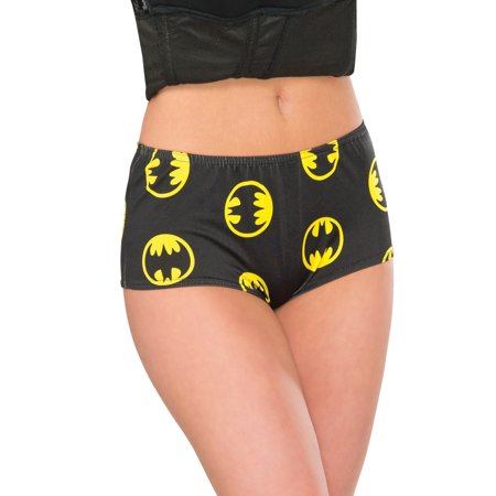 DC Comics Deluxe Batgirl Adult Costume It is short so you will have to wear pants under it which spandex shorts would even work just fine, I read others state that its usually cold on Halloween so they were going to wear leggings anyway/5().