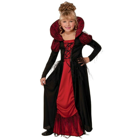 Vampiress Queen Costume for Kids - Drama Queen Costume