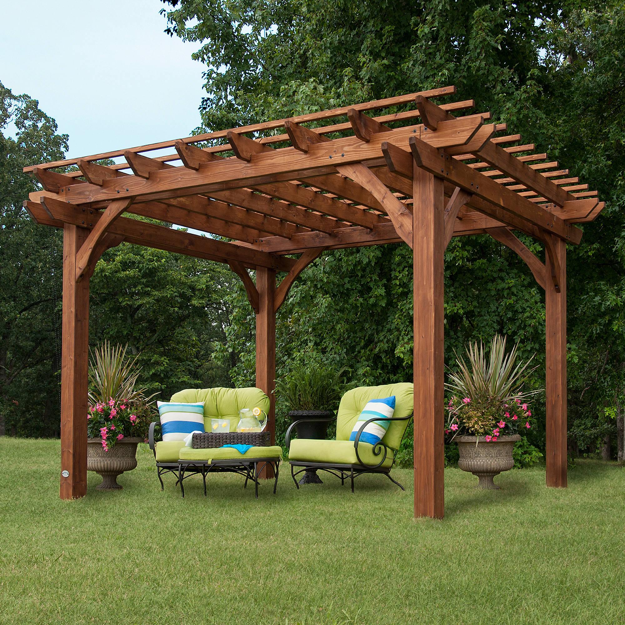 Backyard Discovery 12' x 10' Cedar Pergola, Brown
