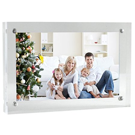 - Paul Peugeot Clear Acrylic Picture Frames Magnetic Photo Frame Double Sided Picture frame (4x6)