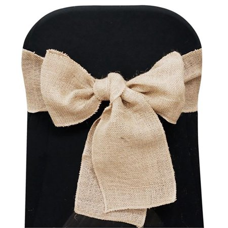 BalsaCircle Natural Brown Burlap Chair Sash - Wedding Party Reception Linens Dinner Event Decorations (Order Of Events At Wedding Reception)