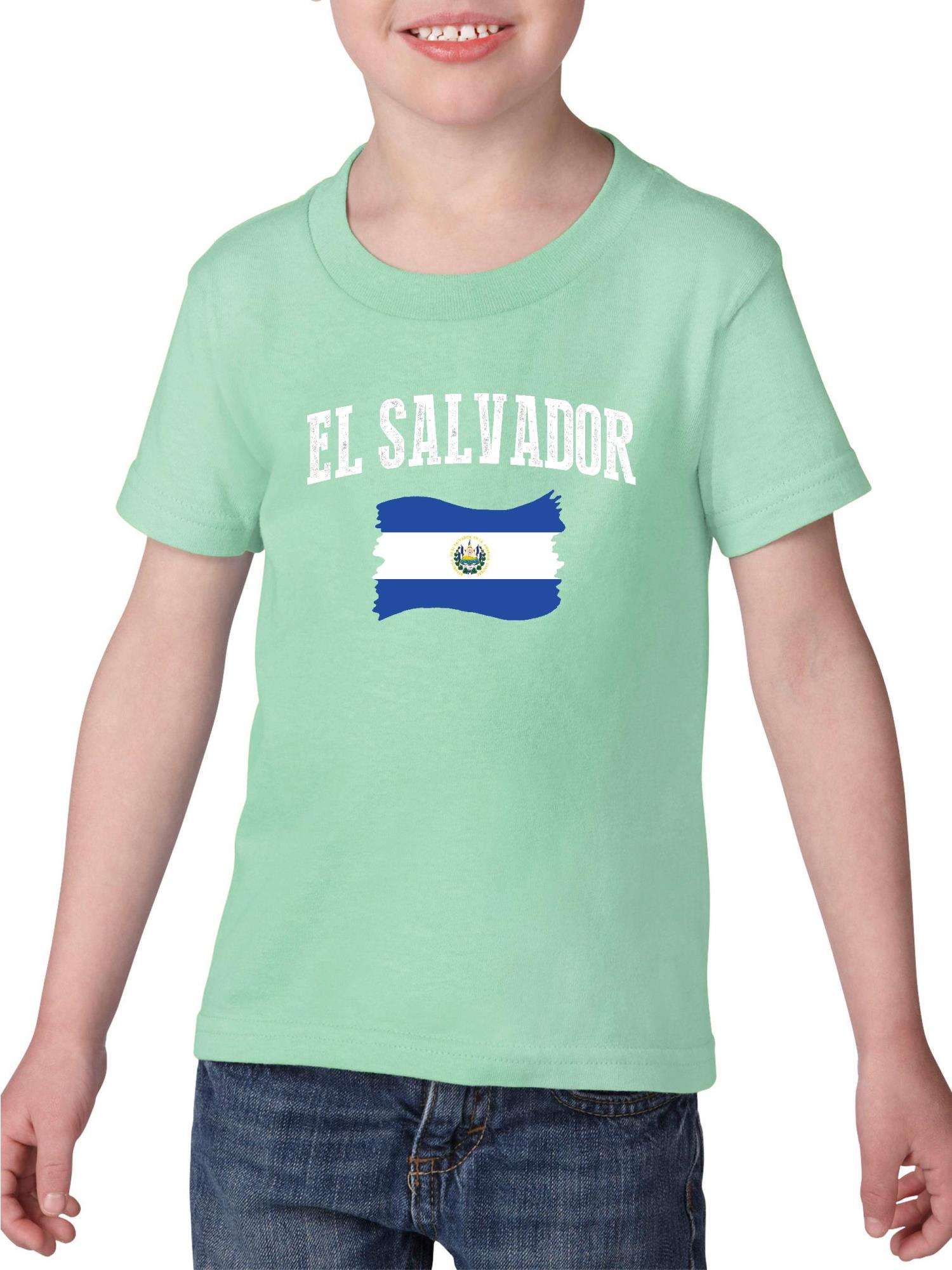 El Salvador Heavy Cotton Toddler Kids T-Shirt Tee Clothing
