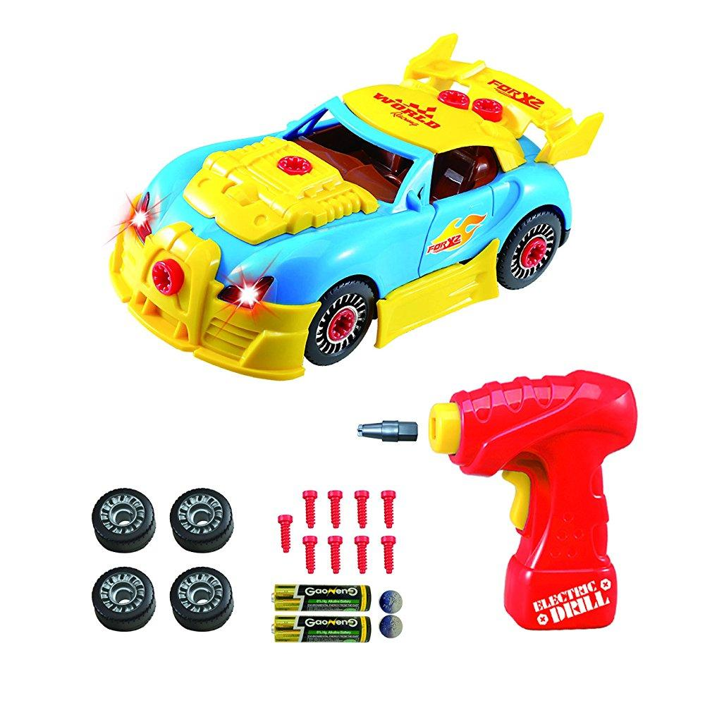 take apart toy racing car kit for kids tg642 build your