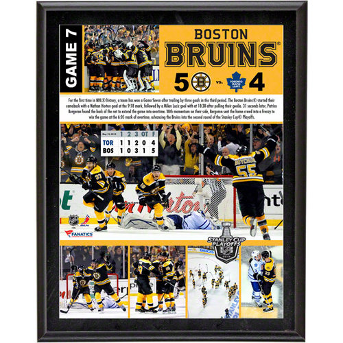 NHL - Boston Bruins Sublimated 10x13 Plaque | Details: 2013 Playoffs Game 7, Comeback Win