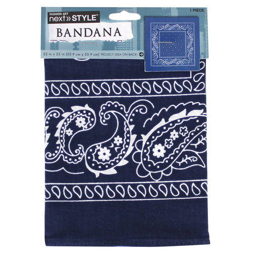 Next Style Single Bandana, Dark Blue