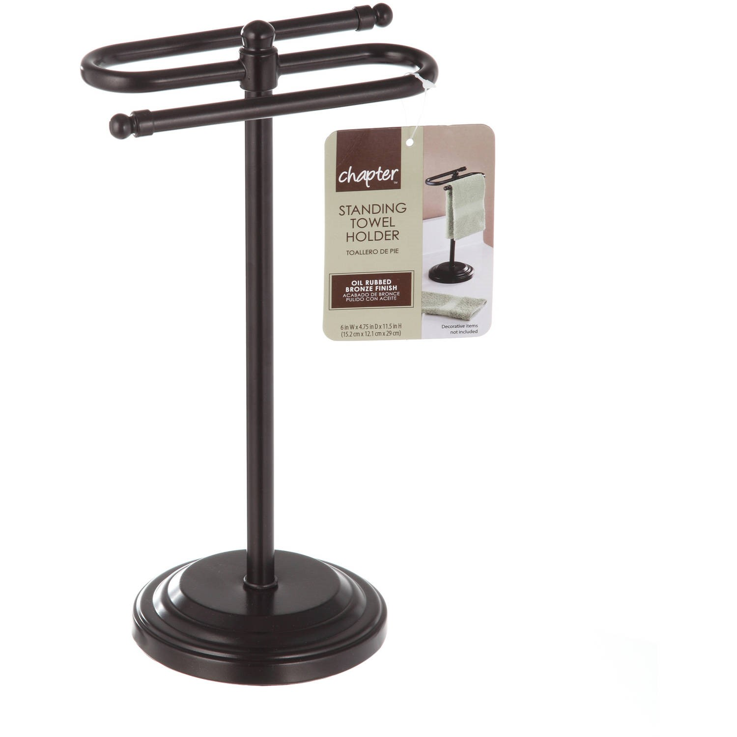 Chapter Free Standing Towel Holder   Oil Rubbed Bronze