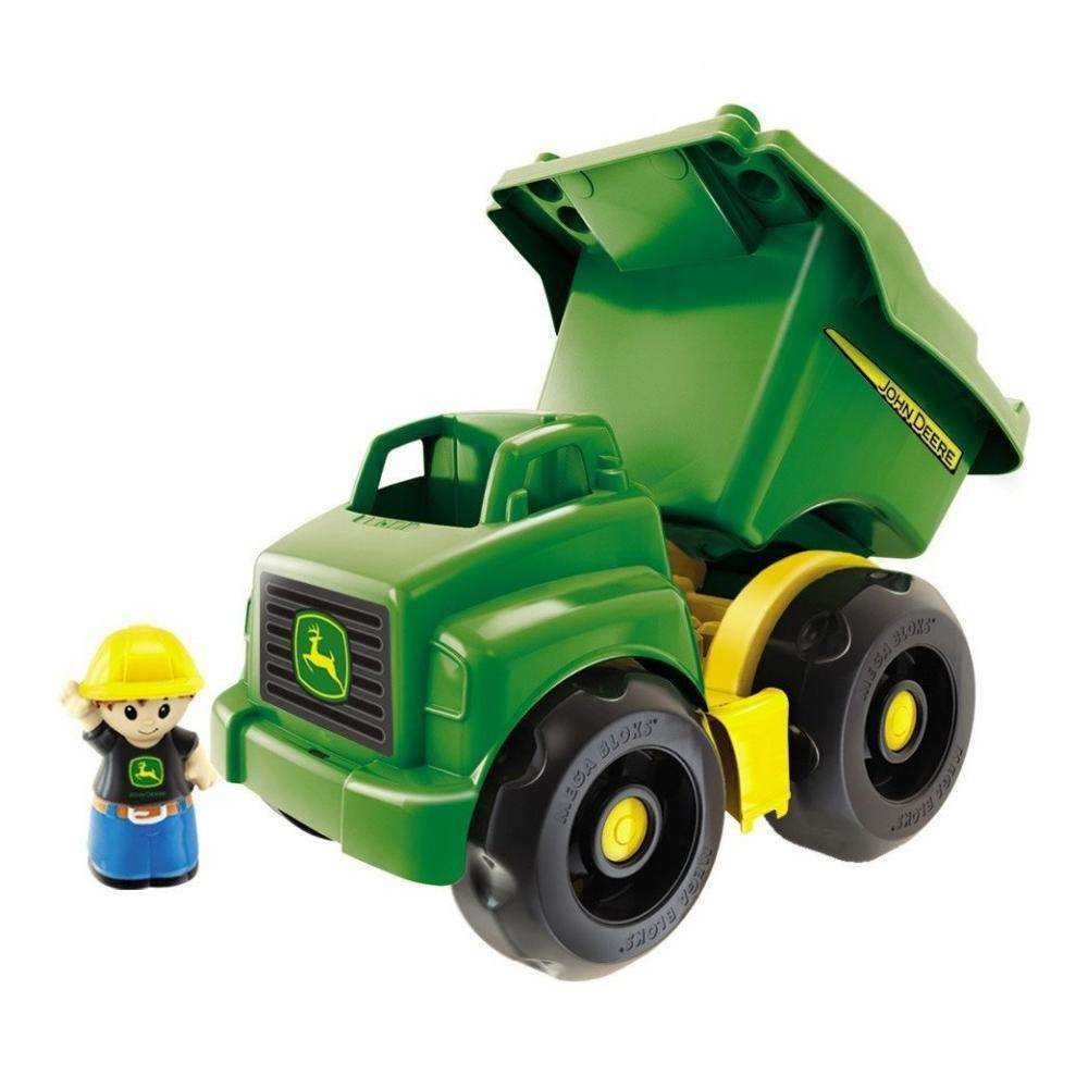 Mega Bloks John Deere Large Vehicle Dump Truck with 1-Block Buddy
