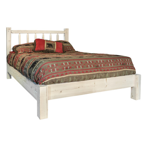 Montana Woodworks MWHCPBTSL Homestead Collection Twin Platform Bed, Stain & Clear Lacquer Finish