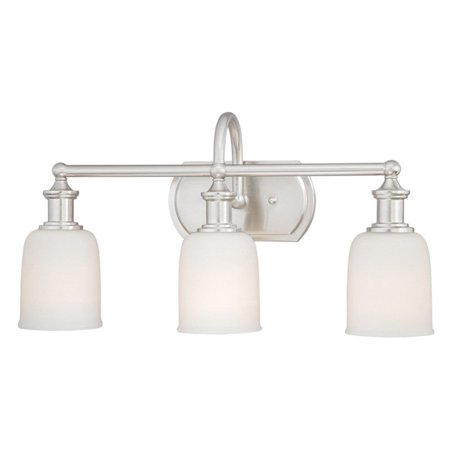 Https Www Walmart Com Ip Vaxcel Lighting W0013 3 Light Bathroom Fixture With Frosted Opal Glass From The Elliot Collection Polished Nickel 26163153