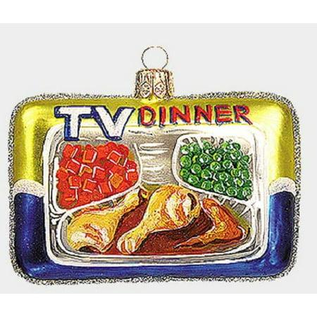 TV Dinner Food Polish Mouth Blown Glass Christmas Ornament Retro Decoration (Frozen Christmas Decorations)