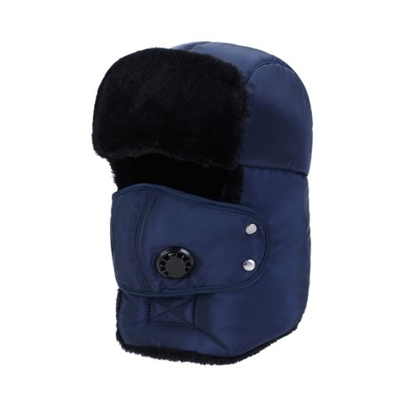 Winter hat new men and women outdoor Korean fashion thickening windproof warm ear protection face anti-smashing Lei Feng Cap blue ???