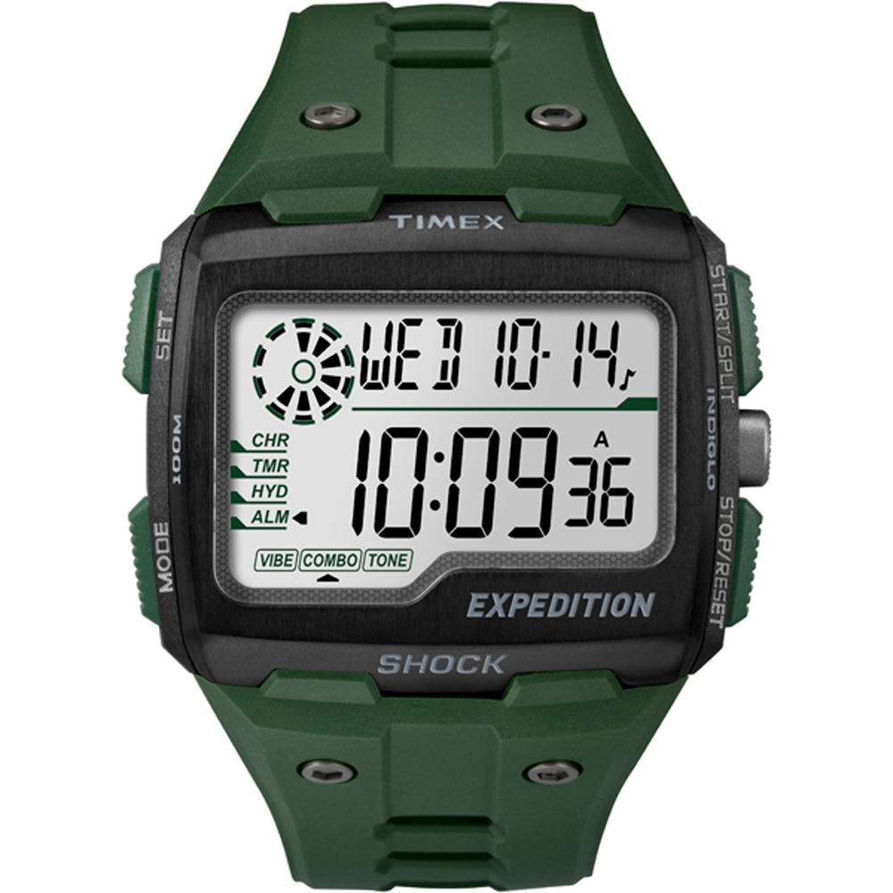 Timex CORPORATION TIMEX EXPEDITION GRID SHOCK CAT GREEN T...