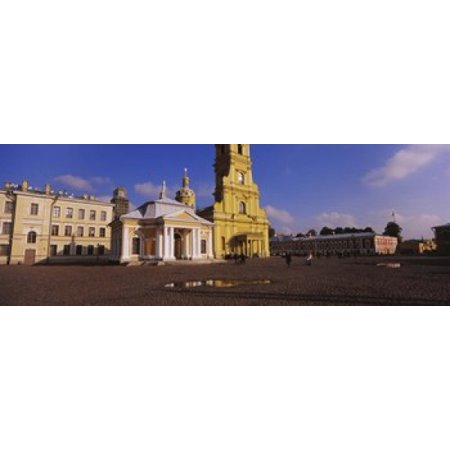 Facade of a cathedral Peter and Paul Cathedral Peter and Paul Fortress St Petersburg Russia Stretched Canvas - Panoramic Images (18 x (Peter And Paul Cathedral St Petersburg Russia)