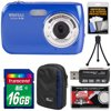 Vivitar ViviCam S126 Digital Camera (Blue) with 16GB Card + Case + Mini Tripod + Reader + Kit Kit Includes 7 Items with all Mfr-supplied Acc + Full USA Warranties 1) Vivitar ViviCam S126 Digital Camera (Blue) 2) Transcend 16GB SecureDigital Class 4 (SDHC) Card 3) Lowepro Newport 10 Digital Camera Case (Black/Blue) 4) Precision Design Flexible Tabletop Mini Tripod 5) Precision Design SD + MicroSD SDHC / SDXC Memory Card Reader 6) Precision Design Universal LCD Screen Protectors 7) Cameta Microfiber Cleaning Cloth The Vivitar ViviCam S126 is an afforable compact point and shoot digital camera that offers a 16.1MP image sensor to produce high-res still images as well as HD 720p video. The S126 features a 1.8-inch LCD screen for composing and reviewing your shots, 4x digital zoom which covers wide-angle to short telephoto perspectives, and Macro mode lets you focus as closely as 4 inches. Additionally the built-in flash helps increase your image quality when shooting in low-light conditions, and the camera runs on three convenient AAA batteries. Key Features: 16.1MP pictures 4x digital zoom 1.8-inch LCD screen HD 720p video Anti-shake Macro mode Built-in flash SD card supported (not included) Requires 3 AAA batteries (not included) Take more high-resolution pictures faster (4MB/sec. minimum) with this 16GB High-Capacity SecureDigital (SDHC) memory card.The Lowepro Newport 10 Digital Camera Case is a compact, lightweight and flexible way to carry your compact camera, smartphone, or other digital device. Sturdy, water-resistant nylon fabric resists moisture and abrasions, and padding keeps your camera safe from minor impacts. A zippered front storage pocket offers a separate compartment with quick access to small accessories. Also features built-in belt loop. Interior Dimensions: 4.3 x 3 x 1 in. (11 x 7.5 x 2.5cm)Take sharp, blur-free photos and great macro shots with this flexible tabletop mini tripod.The Precision Design SD + MicroSD SDHC / SDXC Memory Card Reader transfers photos and videos from your SD, SDHC, SDXC, microSD, microSDHC, microSDXC, Memory Stick or Memory Stick Micro (M2) memory card to your computer quickly and easily.These Precision Design Universal LCD Screen Protectors guard your LCD screen against scratches and wear, and reduce glare for enhanced viewing. Includes 3 sheets and squeegee card.Keep your camera and lenses smudge-free with this handy microfiber cleaning cloth.